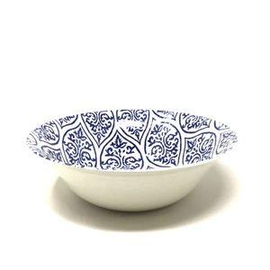 Threshold Plastic Geometric Serving Bowl 96oz Blue